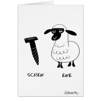 Cartão ovelha do parafuso