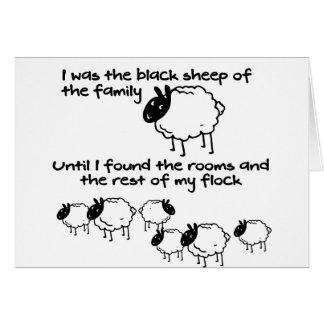 Cartão Ovelhas negras da família