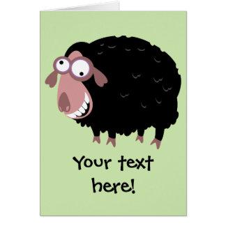 Cartão Ovelhas negras engraçadas