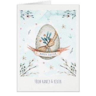 Cartão Ovo da páscoa bonito EasterCard feliz