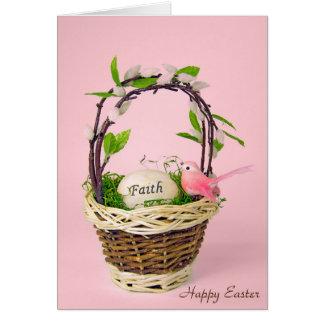 Cartão ovo da páscoa inspirado na cesta