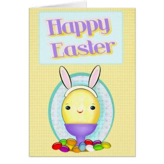 Cartão Ovo feito sob encomenda do coelhinho da Páscoa da