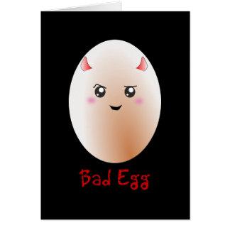 Cartão Ovo mau engraçado