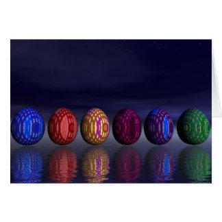 Cartão Ovos coloridos para a páscoa - 3D rendem