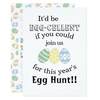Cartão Ovos da páscoa bonitos do Doodle