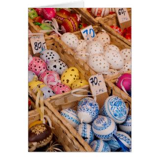 Cartão Ovos da páscoa checos