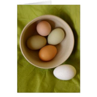 Cartão Ovos naturais