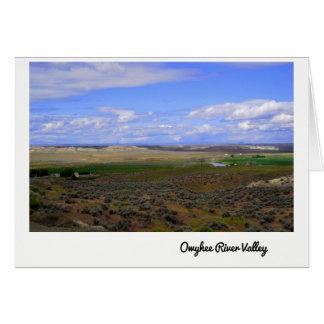 Cartão Owyhee River Valley