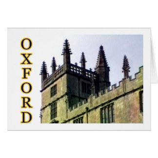Cartão Oxford Inglaterra 1986 espirais de construção 1