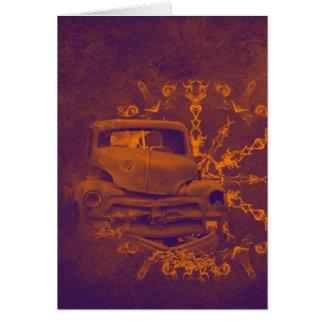 Cartão oxidado abstrato do vertical do carro