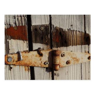 Cartão oxidado da dobradiça
