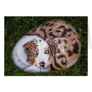 """Cartão """"oxidado"""" da rocha do cão"""