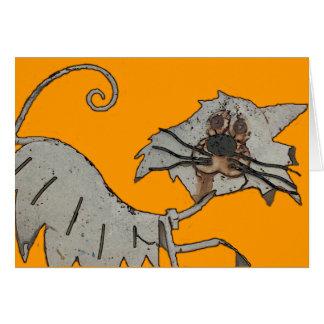 Cartão Oxidado o gato