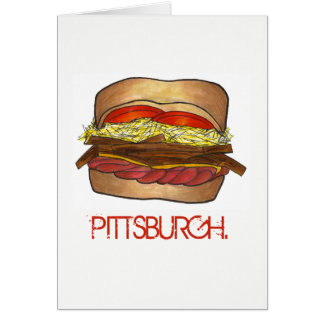 Cartão PA de Foodie do sanduíche de PGH Pittsburgh