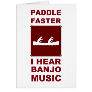 Cartão Pá mais rapidamente mim aqui música do banjo