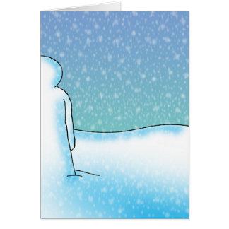 Cartão Paciência da neve