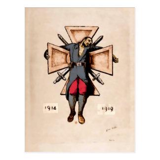 Cartão pacíficos da imagem do soldado francês do