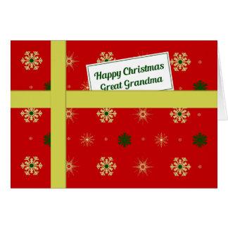 Cartão Pacote vermelho do Natal da grande avó