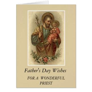 Cartão Padre do dia dos pais de Jesus de St Joseph & de