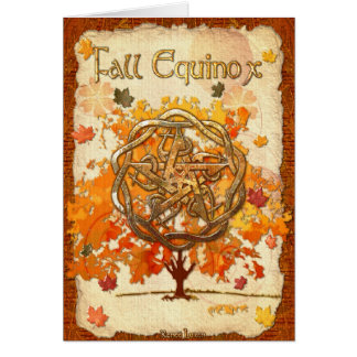 Cartão Pagan Wiccan do equinócio de queda