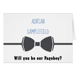 Cartão Pageboy do laço