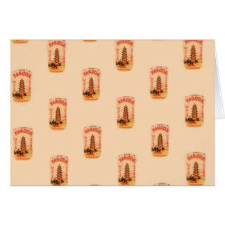 Cartão Pagode do pêssego