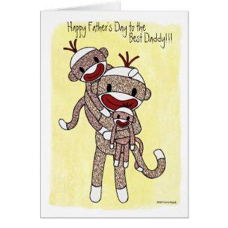 Cartão Pai 02 do macaco da peúga