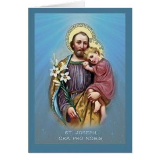 Cartão Pai adoptivo w/Jesus de St Joseph