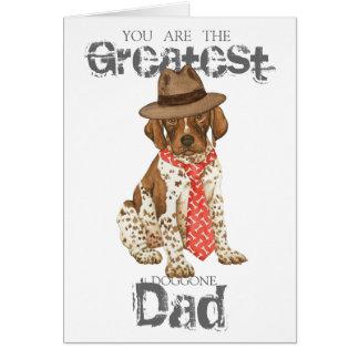 Cartão Pai alemão do ponteiro de cabelos curtos