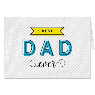 Cartão Pai amarelo azul colorido moderno do divertimento