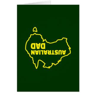 Cartão Pai australiano - piada de cabeça para baixo
