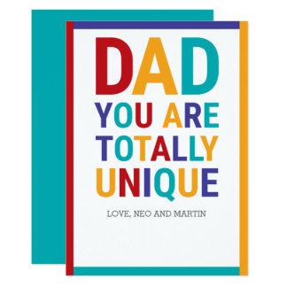 Cartão Pai colorido