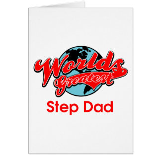 Cartão Pai da etapa do mundo o grande
