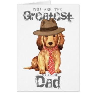 Cartão Pai de cabelos compridos do Dachshund