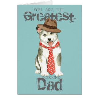 Cartão Pai de Malemute