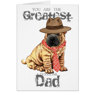 Cartão Pai de Shar-Pei