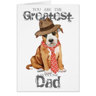 Cartão Pai de Staffordshire bull terrier