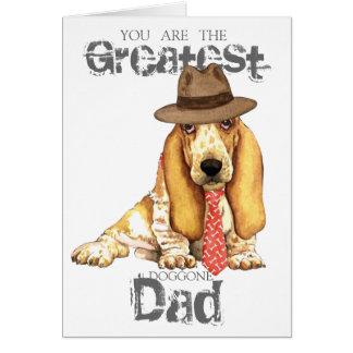 Cartão Pai do Basset