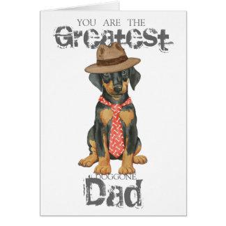 Cartão Pai do Doberman
