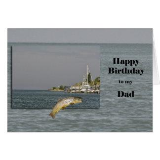 Cartão Pai do feliz aniversario