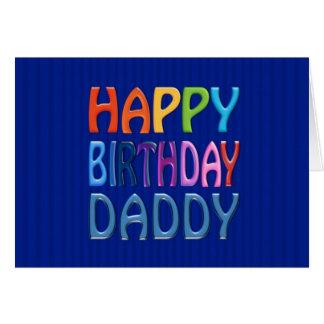 Cartão Pai do feliz aniversario - cumprimento colorido