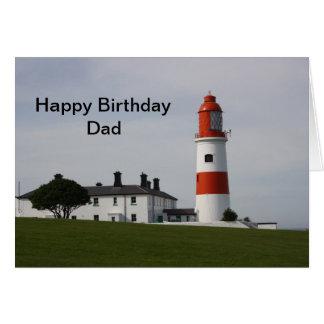 Cartão Pai do feliz aniversario de Inglaterra do farol de