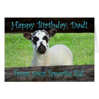 Cartão Pai do feliz aniversario de seu miúdo favorito
