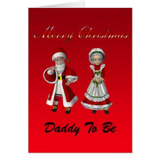 Cartão Pai do Feliz Natal a ser