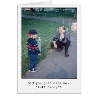 Cartão Pai do sopro