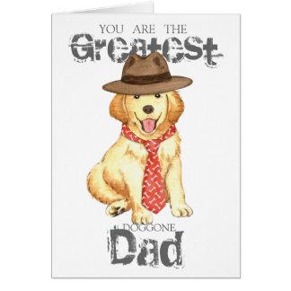 Cartão Pai dourado