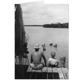 Cartão Pai e filho, Marco Ilha, Florida, 1966