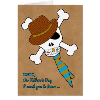 Cartão Pai eu te amo à morte no dia dos pais com crânio