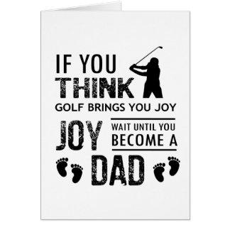 Cartão Pai Golfing
