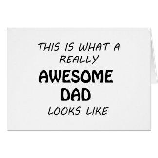 Cartão Pai impressionante
